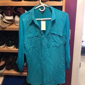 Turquoise Tunic shirt ladies large